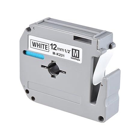 Aibecy Cintas de impresoras matriciales negra sobre blanco ...
