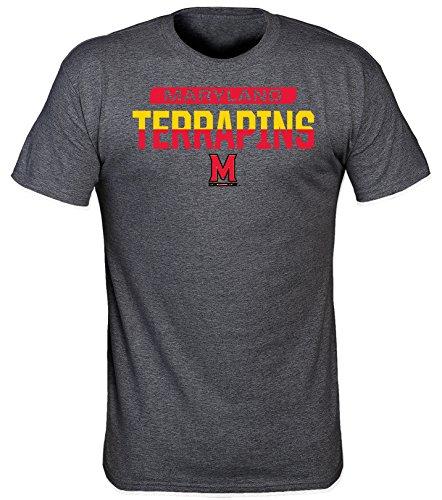 NCAA Maryland Terrapins Men's Lazer Poly T-Shirt, 3X-Large, Dark Heather