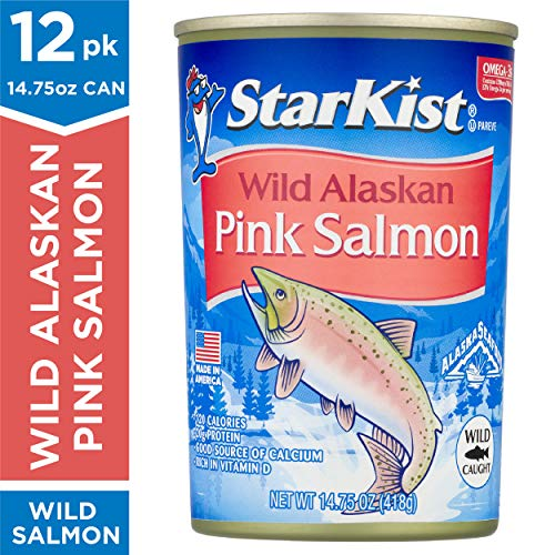 StarKist Wild Alaskan Pink Salmon -Reduced Sodium - 14.75 oz Can (Pack of 12) (Best Canned Salmon Brand)