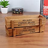 Arrival Antique Wooden Table Sundries Container Cosmetics Storage Box Home Multifunctional Flowerpot Office House Kangsanli