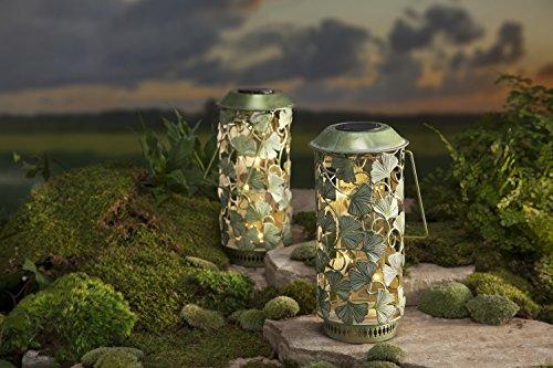 Solar Ginkgo Leaf Lantern by Wind & Weather