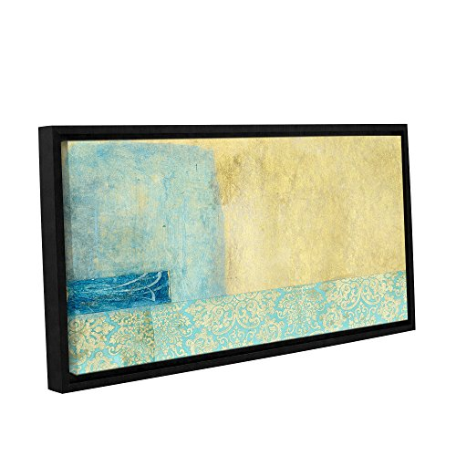 Gold and Blue Banner by Elena Ray Framed Painting Print on Wrapped Canvas 0ray070a1836f