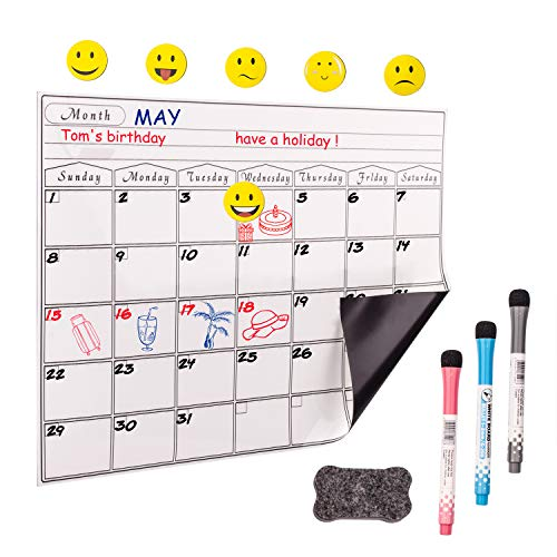 - Prefer Green Magnetic Dry Eraser Board, Kitchen Refrigerator Calendar Whiteboard with Stain Resistant Technology, 17