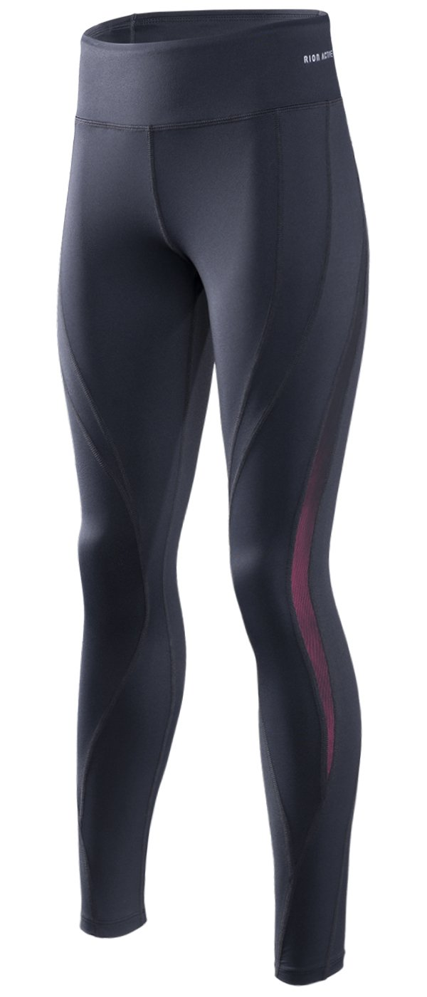 RION Active Women's Workout Yoga Running Compression Tights Tummy Control Leggings RION SPORTS