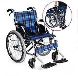 G&M Wheelchair Folding Portable Aluminum Alloy Wheels For Ultra - Light Elderly Travel Wheelchair Steel Tube Manual Wheelchair