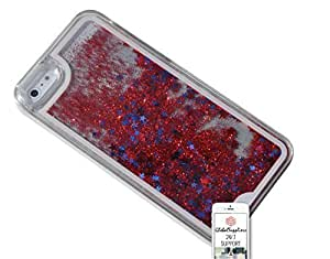 Case for Apple iPhone 6 [4.7 inch] - Crystals Aquarium Glitter Sparkle Swarovski Liquid Snowball Christmas Ball Red by ruishername