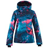 Mous One Women's Waterproof Ski Jacket Colorful Snowboard Jacket and Bib Pant Suit