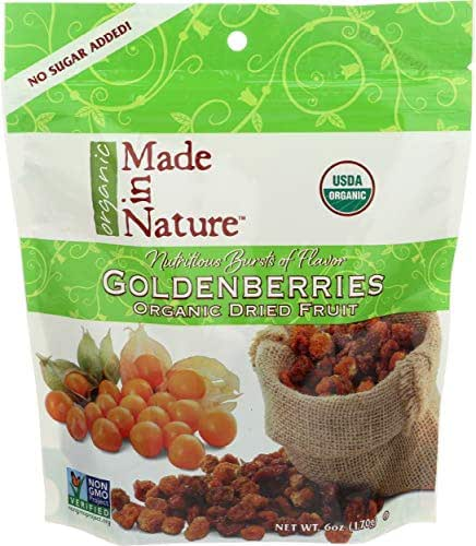 Made In Nature, Golden Berries Dried Organic, 6 Ounce