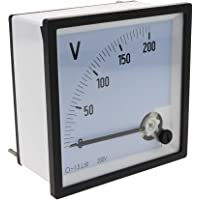 BeMatik - Fyrkantig panel analog elektrisk mätare 96x96mm 200V voltmeter