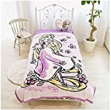 Disney Rapunzel Picture Blanket Washable for Twin sized bed