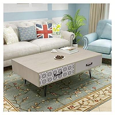 "HomyDelight Coffee Table, Coffee Table 39.4""x23.6""x13.8"" Beige"