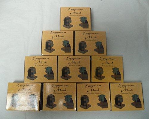 - Kamini Incense Cones: Egyptian Musk - 10 Packs of 10 = 100 Cones