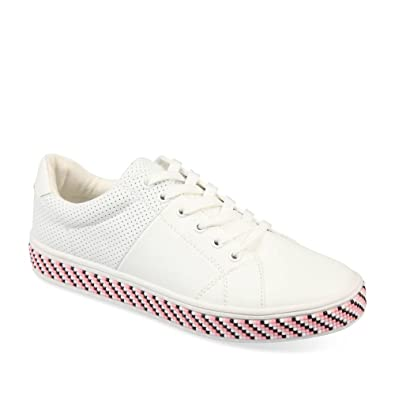 92ee30daaba Baskets BLANC ANGELA THOMPSON Femme Chaussea  Amazon.fr  Chaussures ...