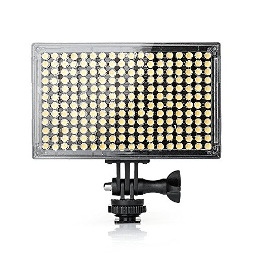Pergear A216C AIR SWITCH Sensor LED Video Light Panel Dimmable Bi-Color On-Camera Led Light with Ultra High Light Intensity for DSLR/Camcorder/Tripod/Selfie Stick (Light Only)