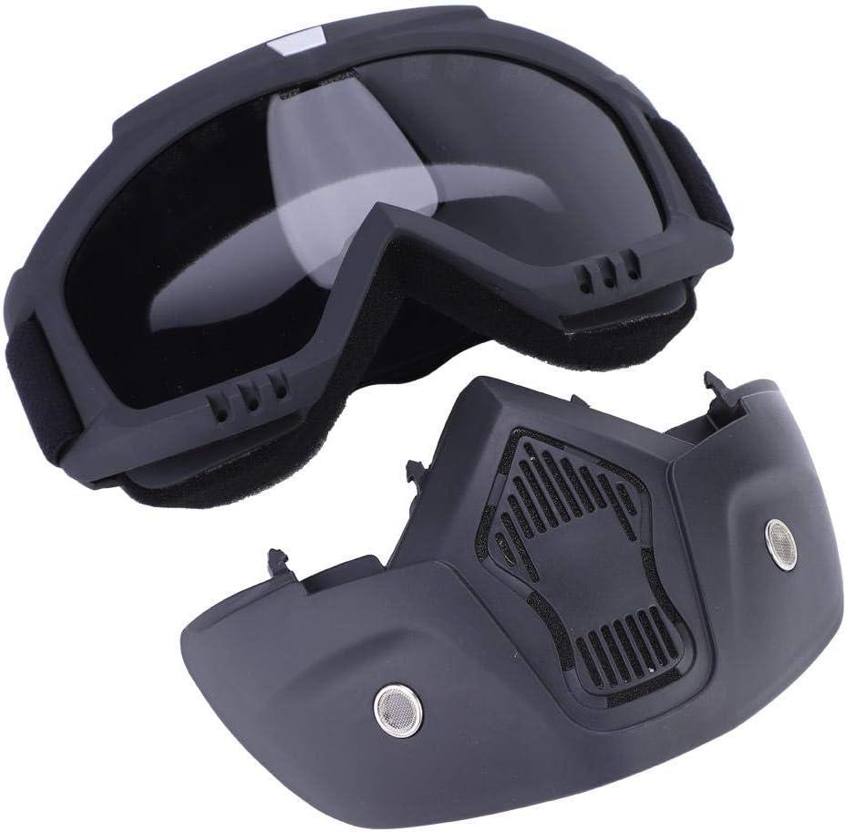 Mascarilla de ciclismo de 5 colores, Casco Máscara protectora Desmontable Antiniebla Anteojos para Esquiar Máscara Deportivo (Gris)