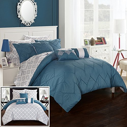 Chic Home CS2015-AN 10 Piece Maddie Rope Like Pinch Pleated