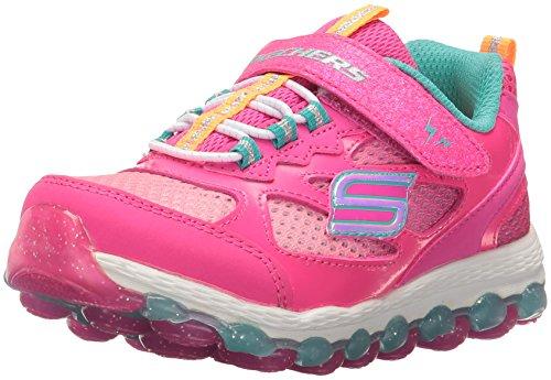 Skechers Kids Girls' Skech-Air Ultra-Bity Bubbles Running Shoe, Neon Pink/Multi, 7 M US Toddler