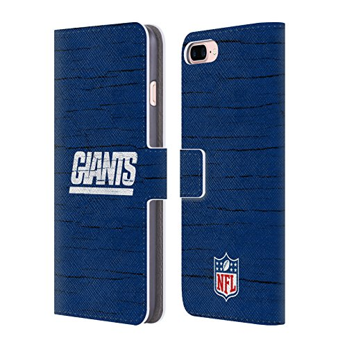 Price comparison product image Official NFL Distressed New York Giants Logo Leather Book Wallet Case Cover For Apple iPhone 7 Plus / 8 Plus