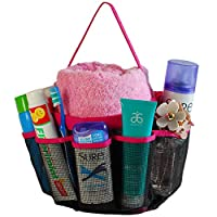 #1 Best Quality Lebogner Quick Dry Shower Caddy Tote Bag Bathroom Organizer Accessories Shower Organizer 8-Pocket Shower Bag Pink - Satisfaction Is 100% Guaranteed Or Your Money Back.