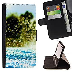 Momo Phone Case / Flip Funda de Cuero Case Cover - Agua Splash - LG G4