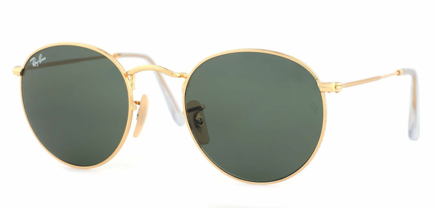 Ray-Ban Metal Polarized Round Sunglasses, Matte Gold, 50 mm