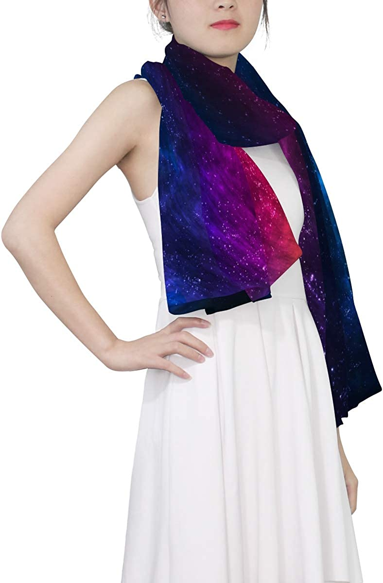 EELa Long Shawl for Women Lightweight Soft Stardust and Nebula Printed Wrap Scarf 70x35 inches