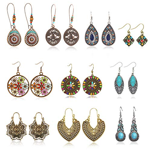 Vintage Earrings Bohemian National Statement product image