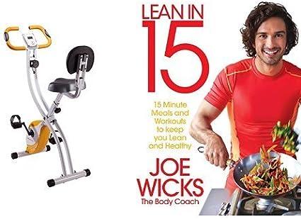 Bicicleta estática con libro de recetas y ejercicios (inglés ...