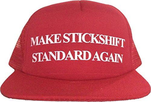 MAKE STICKSHIFT STANDARD AGAIN Adjustable Hat Trump Parody Trucker Cap - E30 Shifter Knob