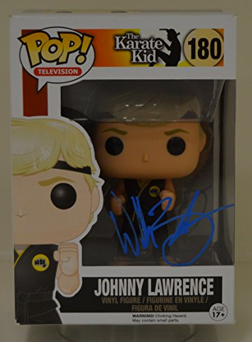 Funko POP Movies: Karate Kid - Johnny Lawrence signed by WILLIAM ZABKA