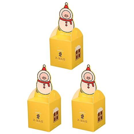 Wa 3X Cajas de Dulces Galletas Cajas de Regalo para Navidad Galletas para la