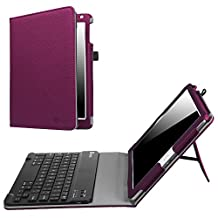 Fintie New iPad 9.7 Inch 2017 / iPad Air 2 / iPad Air Keyboard Case - Premium PU Leather Folio Stand Cover with Removable Wireless Bluetooth Keyboard for Apple iPad 9.7 2017 Model, iPad Air 1 2 (Purple)