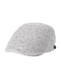 WITHMOONS Summer Linen Flat Cap Two Block Neutral Color Ivy Hat LD3649
