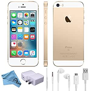Apple iPhone SE Factory Unlocked GSM 4G LTE Smartphone (Certified Refurbished) (Gold, 128GB)