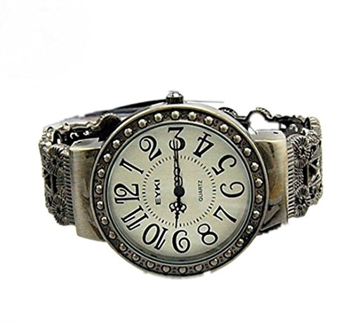 (Surpriseyou(TM) Retro Vintage Antique Pattern Lady Womens Bracelet Hollow Bangle Wrist Watch)