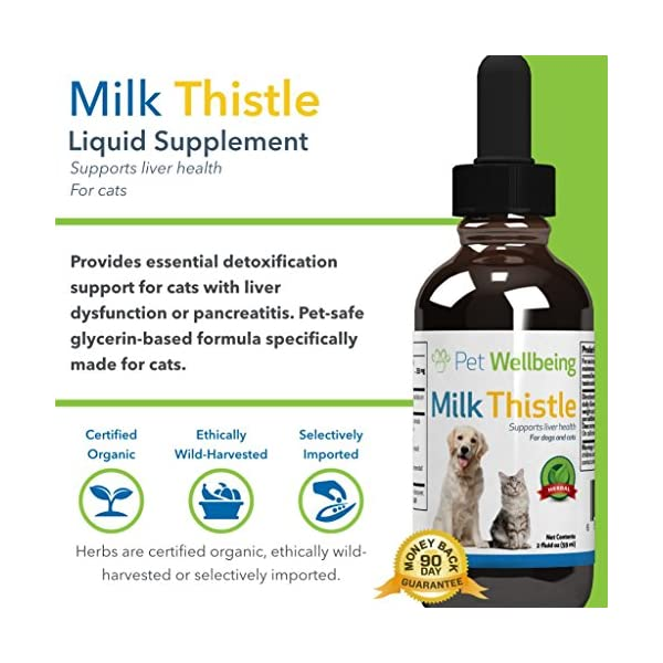Pet Wellbeing - Milk Thistle for Cats - Natural Support for Feline Liver Health - 2oz (59ml) 4