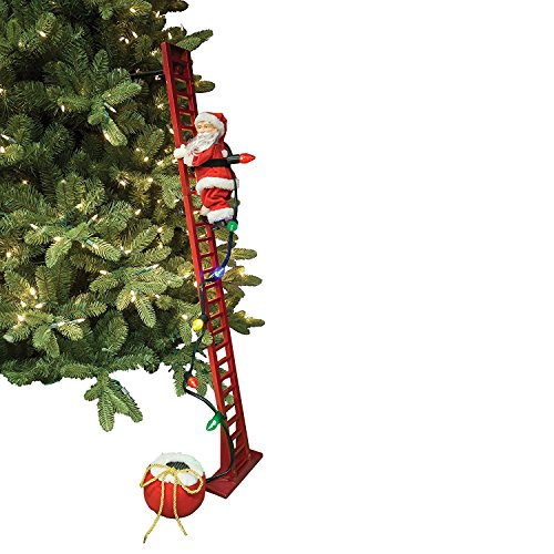 Mr. Christmas Super Climbing Santa Holiday Decor, Red