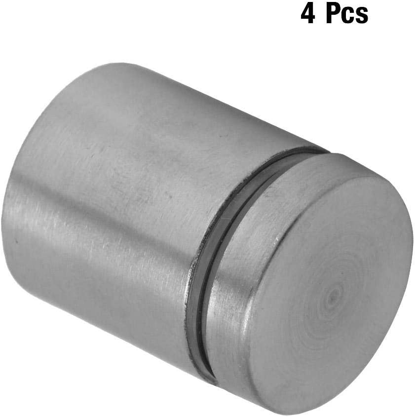 4pcs Stainless Steel Glass Standoff Advertise Fixing Pins Holders Mounting Bolts 2525MM