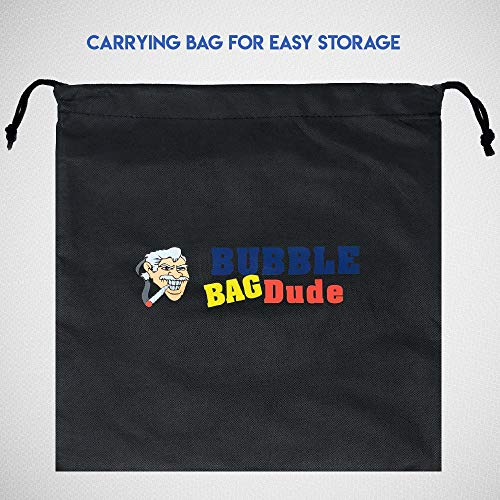 BUBBLEBAGDUDE Bubble Bags 5 Gallon 8 Bag Set Herbal Ice Essence Extraction Bag Kit with 10 x 10 (25 Micron) Pressing Screen and Storage Bag