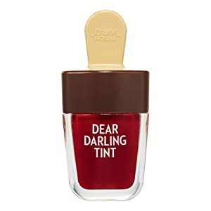 ETUDE HOUSE Dear Darling Water Gel Tint Ice Cream (RD308 Honey Red) | Vivid High-Color Lip Tint with Minerals and Vitamins from Soap Berry Extract to Moisture Your Lips