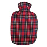 Warm Tradition Confetti Tartan Plaid Flannel Hot Water Bottle Cover - COVER ONLY- Made in USA