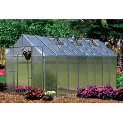 Monticello Greenhouse Premium Package, 8' x 16', Aluminum Finish