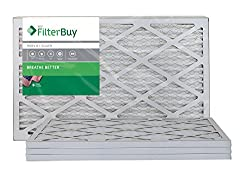 AFB Silver MERV 8 15x20x1 Pleated AC Furnace Air Filter. Pack of 4 Filters. 100% produced in the USA.