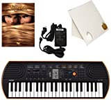 Casio SA-76 44 Key Mini Keyboard Deluxe Bundle Includes Bonus Casio AC Adapter, Desktop Music Stand & Disney's Tangled Beginning Piano Solo Songbook