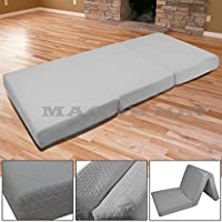 Magshion Memory Foam Mattresses Folding Bed (Twin 39, Dark Grey)