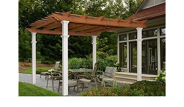 Nueva Inglaterra husillos Burdeos Bicolor 10 x 10 Pergola: Amazon.es: Jardín