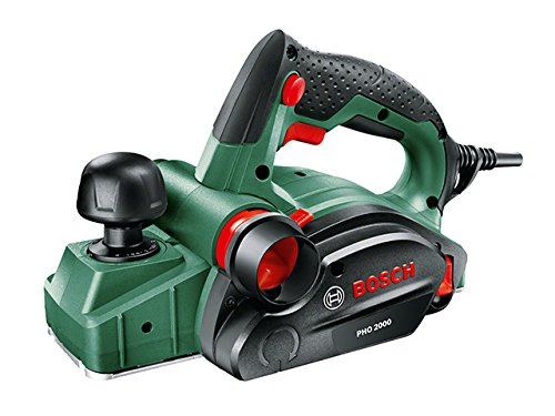 Bosch DIY Handhobel PHO 2000, Hobelmesser, Karton (680 W, Hobelbreite 82 mm, Spantiefe 0 - 2,0 mm, Falztiefe 0 - 8 mm)