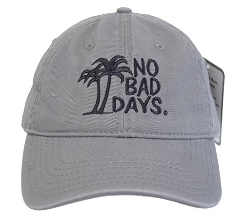 - No Bad Days Garment Washed Superior Combed Cotton Twill Six Panel Cap - Gray