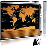 """SCRATCH OFF WORLD MAP POSTER made with Premium Paper featuring SCRATCHABLE FLAGS 
