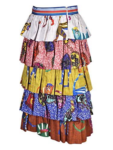 Multicolore Femme JG03000S30264023 STELLA JEAN Coton Jupe C8qOg